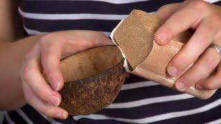 Kokosnuss Schale selbermachen | DIY Deko Kokosnussschale
