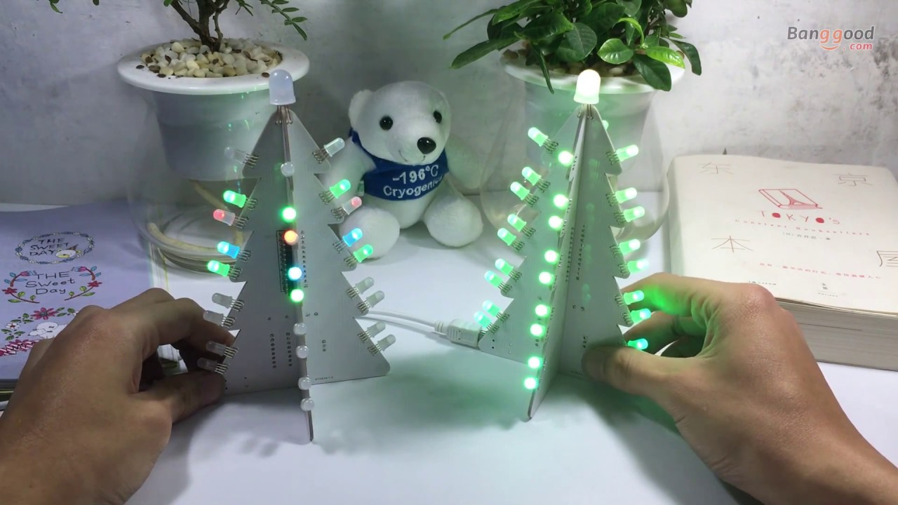 Geekcreit® DIY Light Control Full Color LED Big Size Christmas Tree ...
