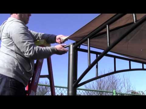 Installation Tip For A Corner-pocket Style Gazebo Canopy