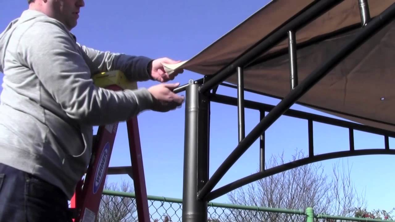 & Installation Tip for a corner-pocket style gazebo canopy - YouTube