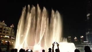 Burj Khalifa dancing fountain Dubai May 2014