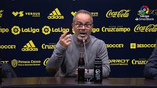 Rueda de prensa de  Álvaro Cervera tras el Cádiz CF vs Real Racing Club (1-0)