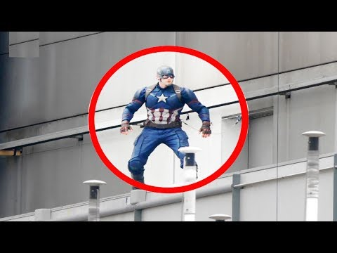 5 CAPTAIN AMERICA CAUGHT ON CAMERA & SPOTTED IN REAL LIFE!