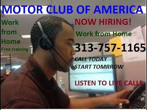 MCA | Work From home | Call Reps | for Motor Club of America 2015 - YouTube