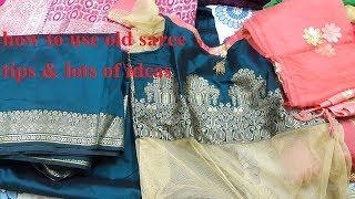 Old Saree How I use & Lots of Ideas & tips / पुरानी साड़ी का पार्टी ड्रेस आइडियाज जरूर देखे वीडियो