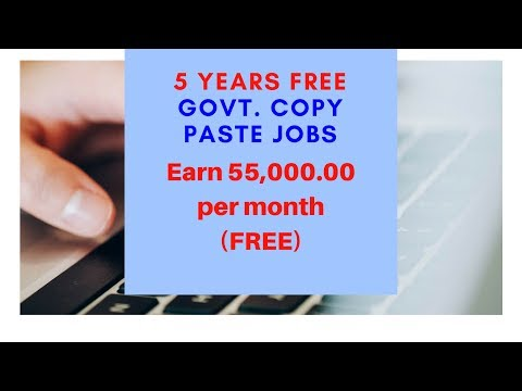 Govt. Copy Paste Jobs Earn 45,000.00 Per month Register today and Get 250 Paytm Sign Up Bonus.