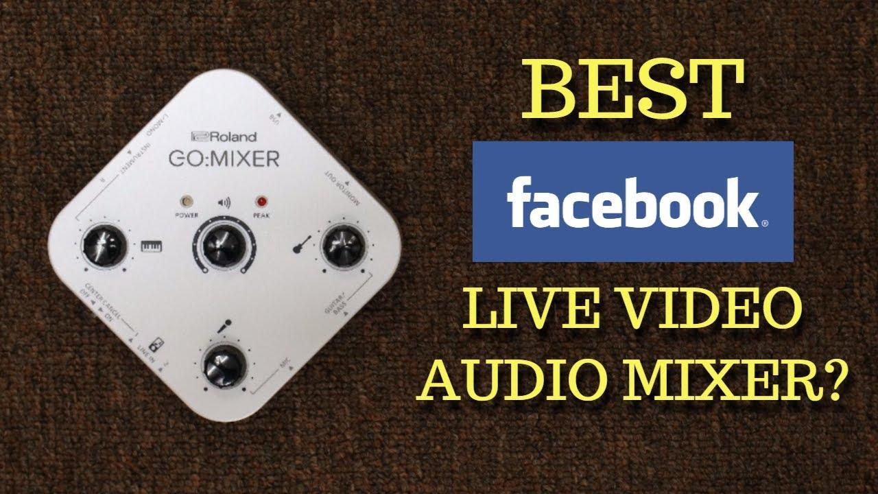 BEST MIXER FOR FACEBOOK LIVE? Roland GO:Mixer Demo for Musicians