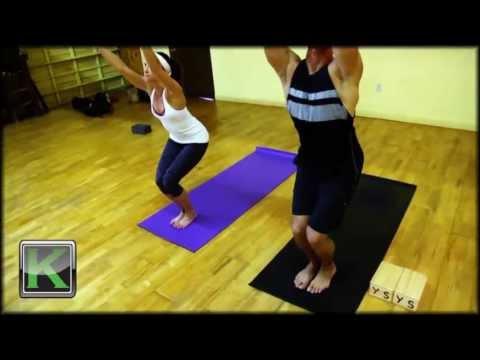 one minute yoga  utkatasana  chair pose  youtube