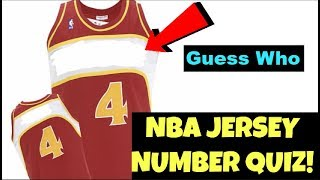 NBA JERSEY QUIZ - (Can YOU Name That NBA STAR's Jersey Number?) 🤔