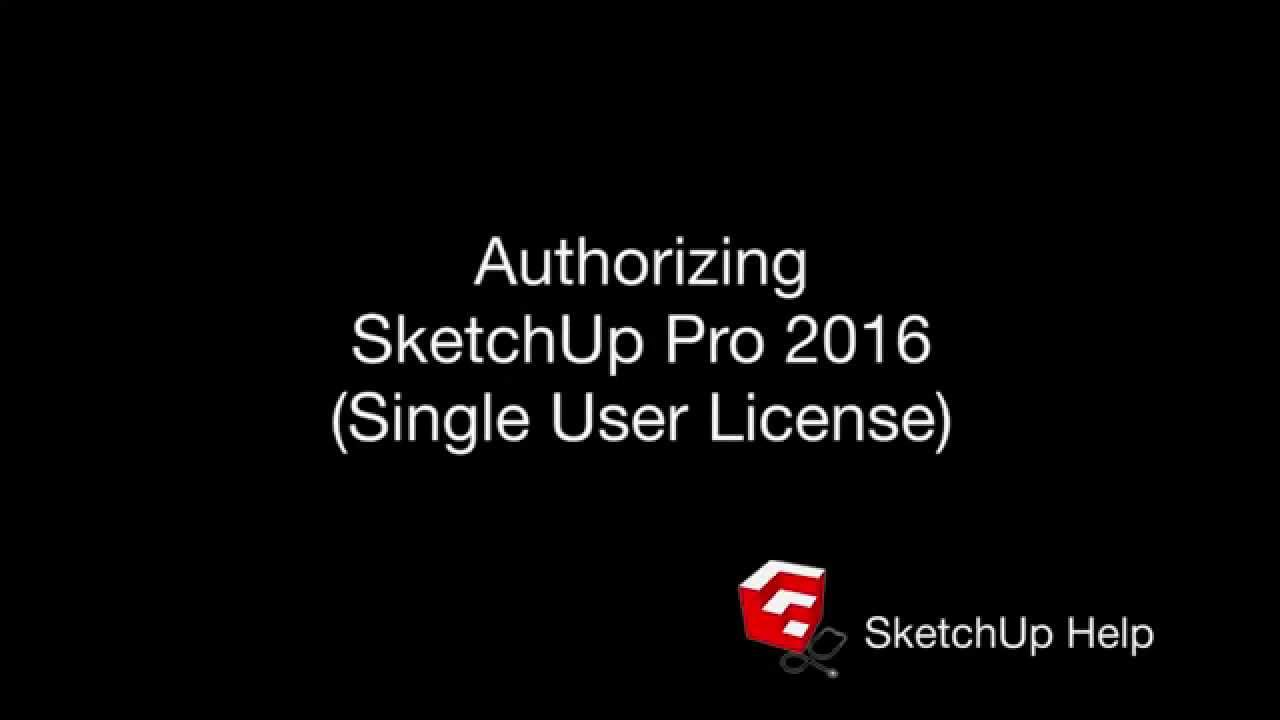 Authorizing or Removing a License | SketchUp Help