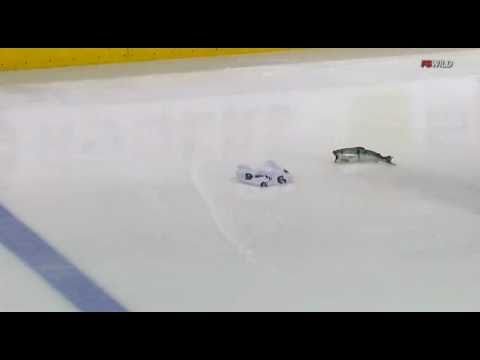 Canucks Fan Throws A Fish On The Ice (April 7 2011)