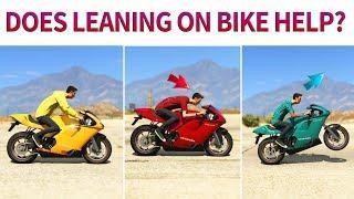 gta v does leaning on motorbike help