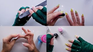 Diy Hard Gel nails *ASMR