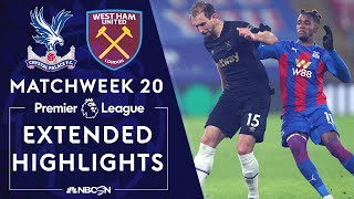 West ham edged london rivals crystal palace in a five-goal thriller behind tomas soucek's brace and craig dawson's header. #nbcsports #premierleague #crystal...