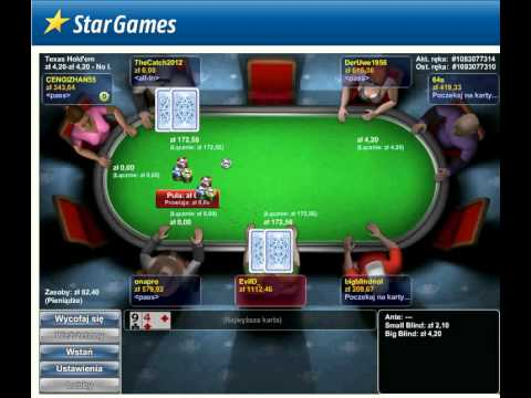 StarGames - Poker Showdown blind 2/4PLN. Donki w StarsGames KK