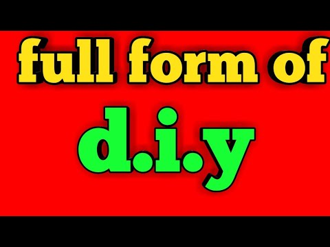 Diy।।full form of diy।। full form of diy in hindi।। diy meaning।।