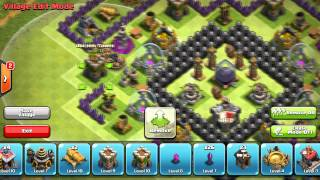 Clash Of Clans | Unique Town Hall 9 Farming Base (After Halloween Update/4 Mortars) - 2014