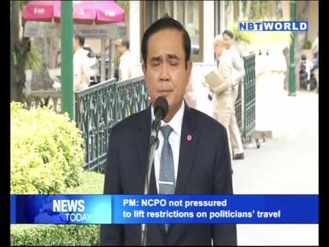 PM NCPO not pressured to lift restrictions on politicians' travel
