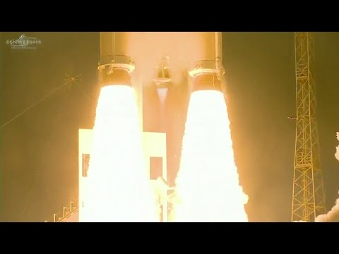 Ariane 5 blasts off from French Guiana with Telecom Satellite Duo