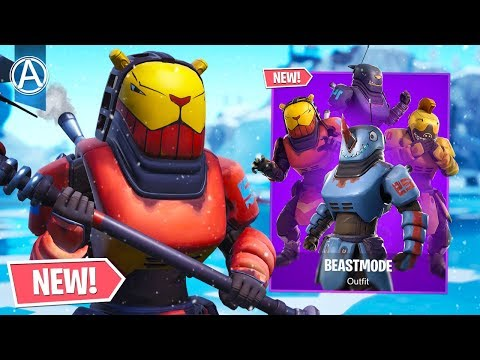 """NEW """"BEASTMODE"""" SKIN Gameplay! // Pro Console Player // 1950+ Wins (Fortnite Battle Royale LIVE) thumbnail"""