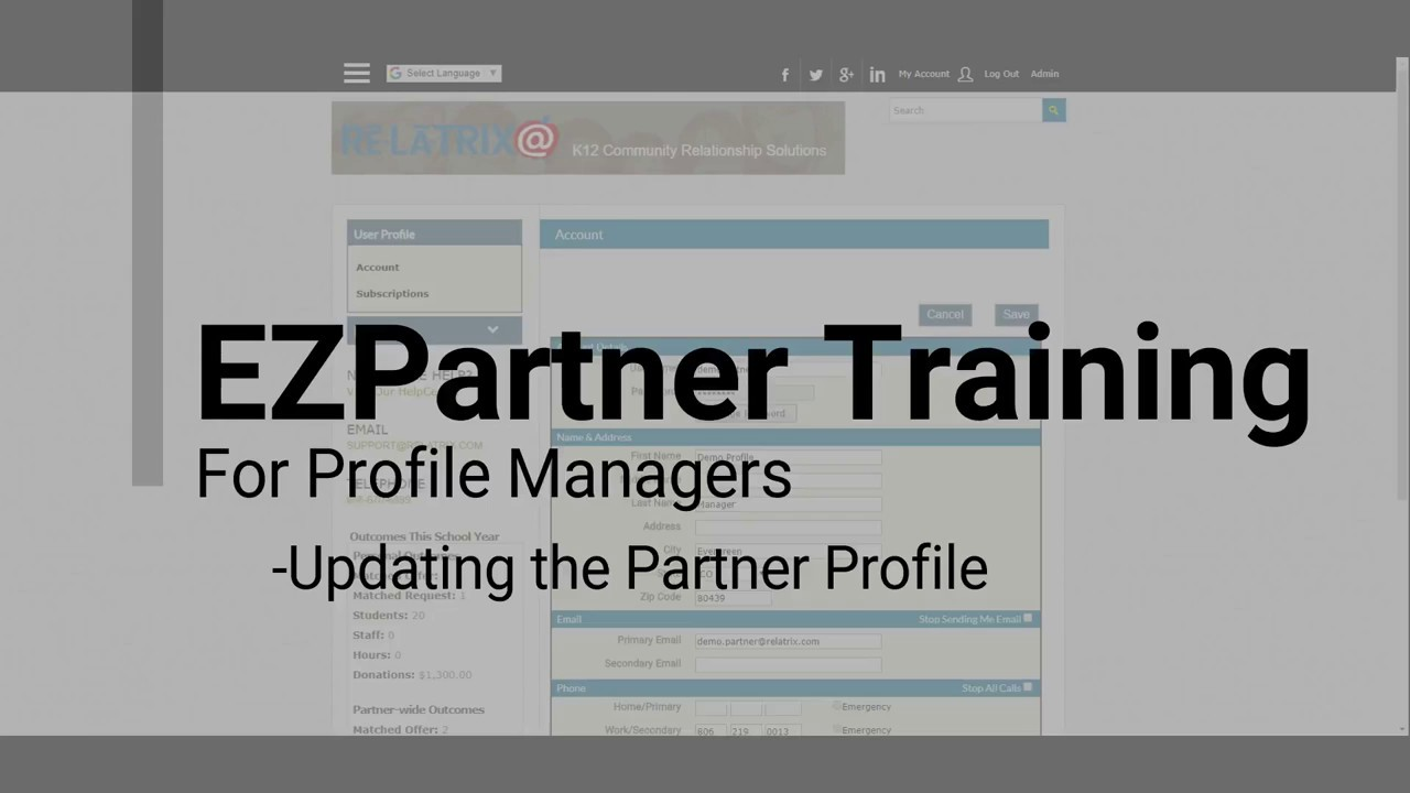EZPartner - How To Update Profiles For Partners
