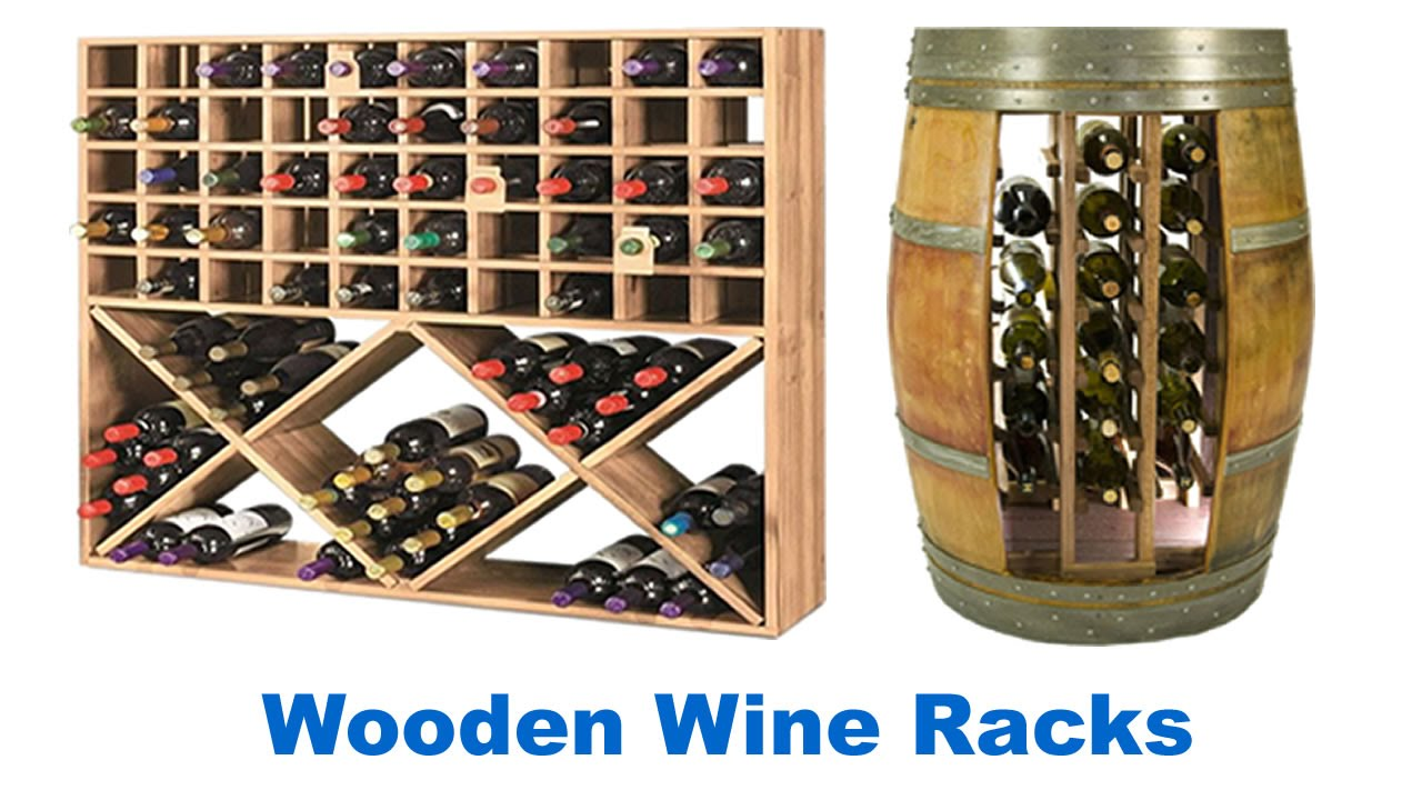 Wooden Wine Racks For Sale - YouTube