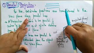 projection in computer graphics | Lec-36 | Bhanu priya
