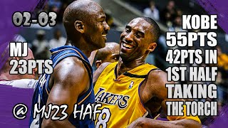 Kobe Bryant vs Michael Jordan Highlights (2003.03.28) - 78pts All! Kobe Explodes in Last Meeting!