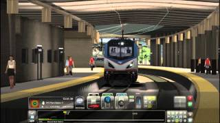 Train Simulator 2014 HD: Amtrak ACS-64 626 Stops at NWK Liberty Airport, NWK Penn, and SEC Junction