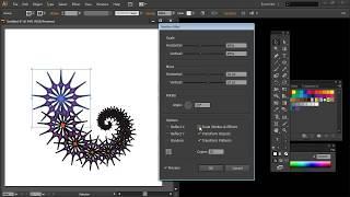 Make Spiral Shapes in Adobe Illustrator Part2