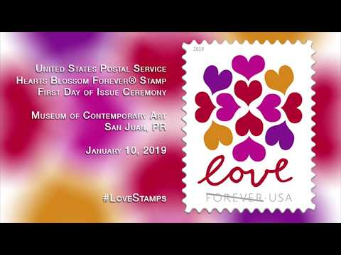USPS Heart's Blossom Love Stamp Dedication
