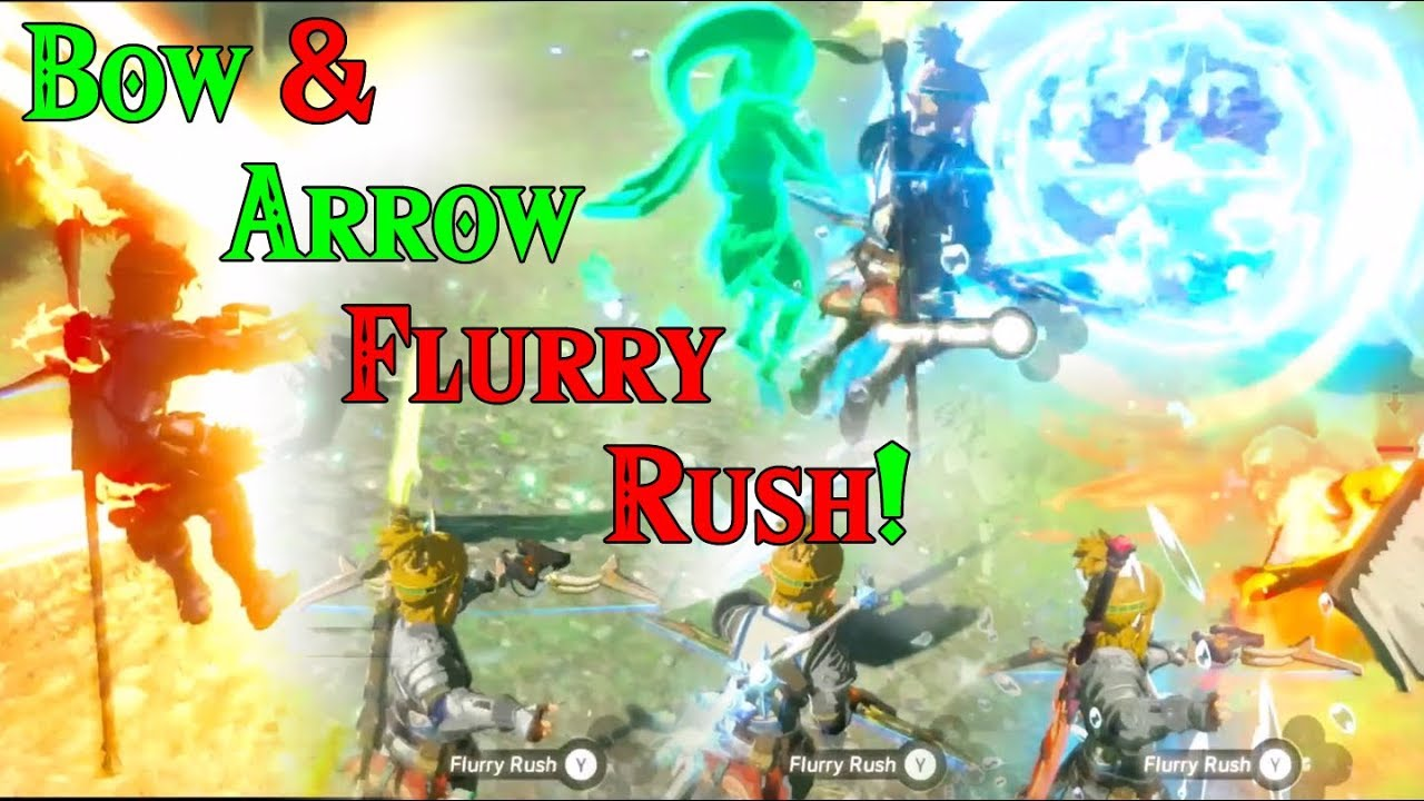 Bow & Arrow FLURRY RUSH! Creating COMBOS in Zelda Breath of the Wild