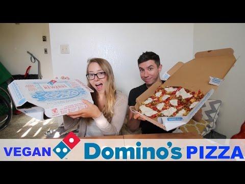 DOMINOS PIZZA WITH VEGAN CHEESE | MUKBANG