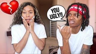 CALLING MY GIRLFRIEND UGLY PRANK!! *SHE CRIES*