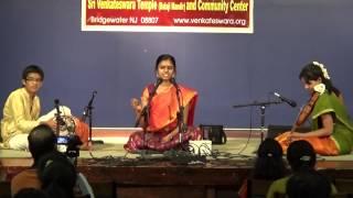 01-Shri Narada Nada - Kanada - Adi - Thejasvi singing at NJ youth concert