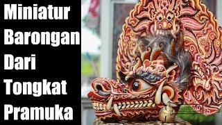 Miniatur Barongan Dari Tongkat Pramuka Karya Siswa SMK