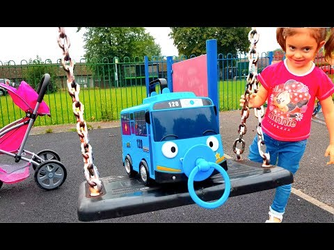 Thumbnail: Tayo the Little Bus in Real Life Going to the Playground / Slides and Swing