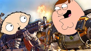 FAMILY GUY CHARACTERS PLAY BLACK OPS 3! (Call of Duty Voice Trolling)