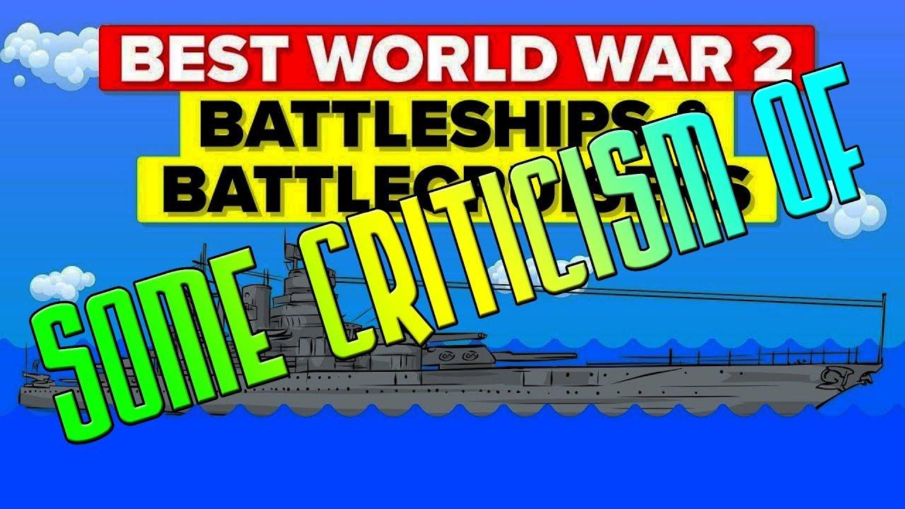 Some Criticism of The Infographics Show - Best World War 2 Battleships and Battlecruisers