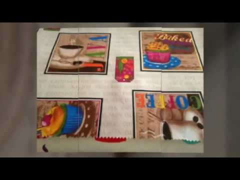Cortinas visillos y telas de cocina youtube for Telas cortinas cocina