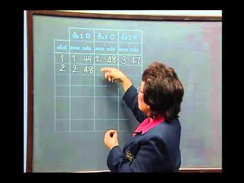 เฉลยข้อสอบ TME คณิตศาสตร์ ปี 2553 ชั้น ป.4 ข้อที่ 30