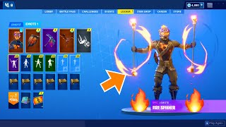 *NEW* LAVA LEGENDS PACK LEAKED IN FORTNITE (Fire Spinner, Fanciful) Jellfree