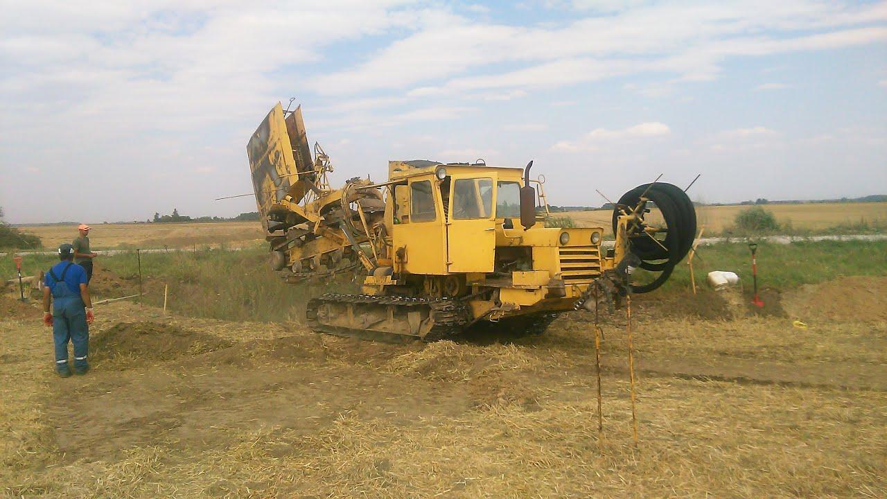 Trenching Machines Working : Drainage trencher machine in lithuania trenching