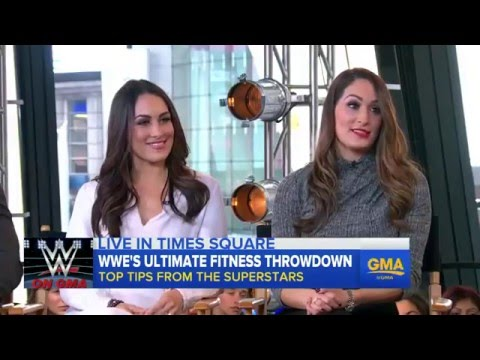 (720pHD): Good Morning America with Special Guest The Bella Twins & Roman Reigns