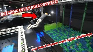 OVERNIGHT IN CRAZY NINJA WARRIOR PARK *WE MESSED UP & HAD TO RUN*