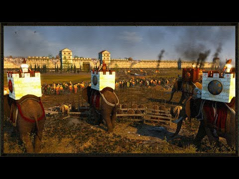 Massive 15,000 Carthaginian Siege Battle - Total War Ancient Empires