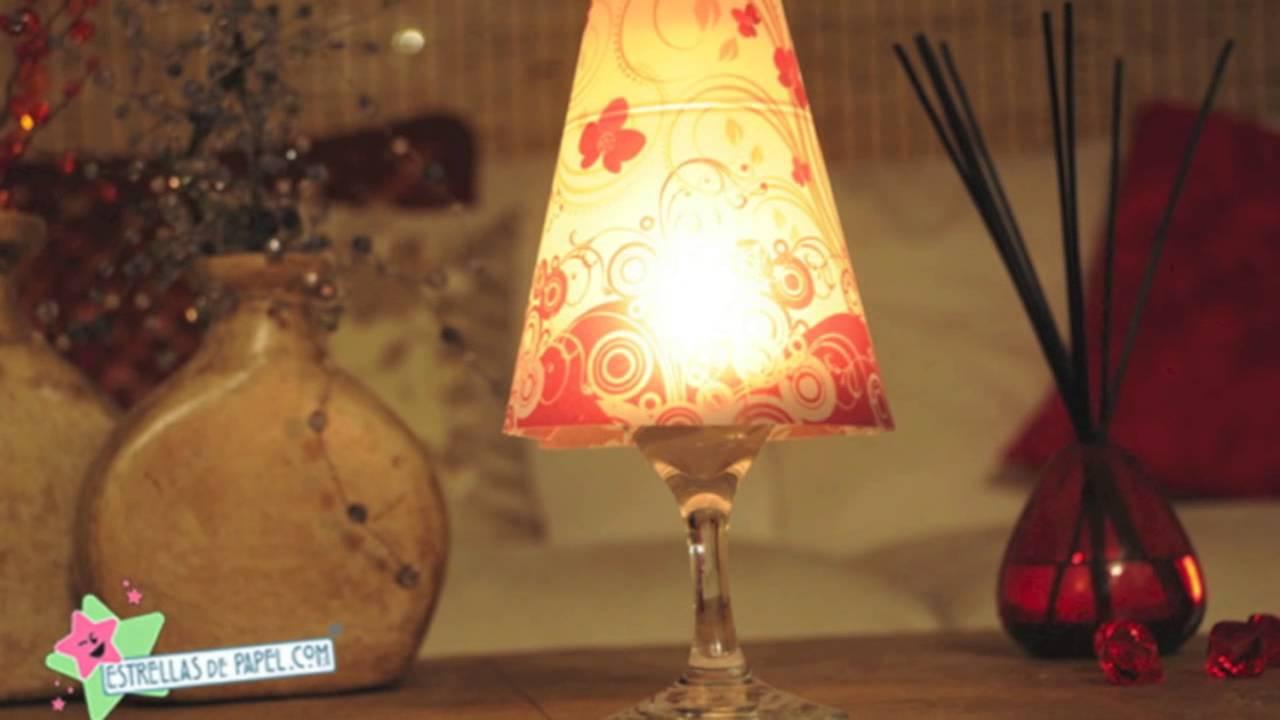Pantallas para copas de vino pantallas de papel for Lamparas y plafones de pared