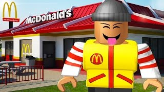 WORKING AT MCDONALDS IN ROBLOX