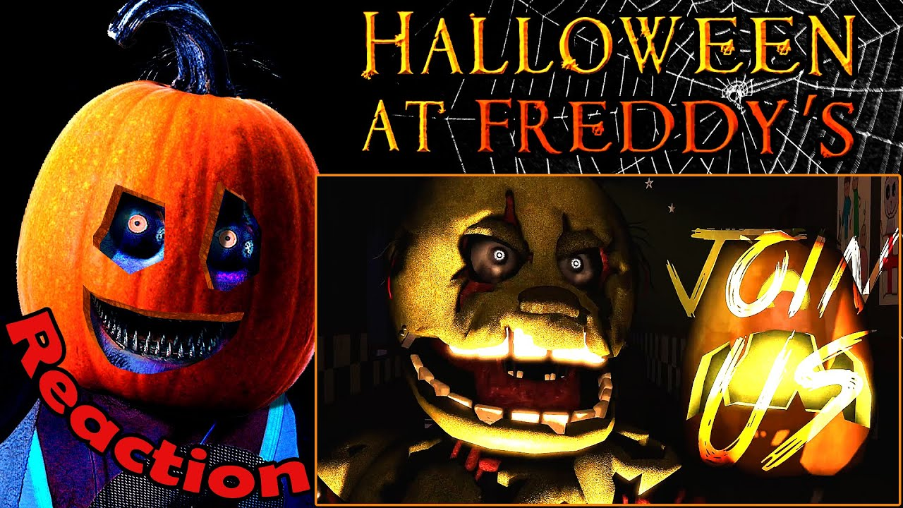 Halloween at Freddy's Song REACTION! | JOIN US! | - YouTube