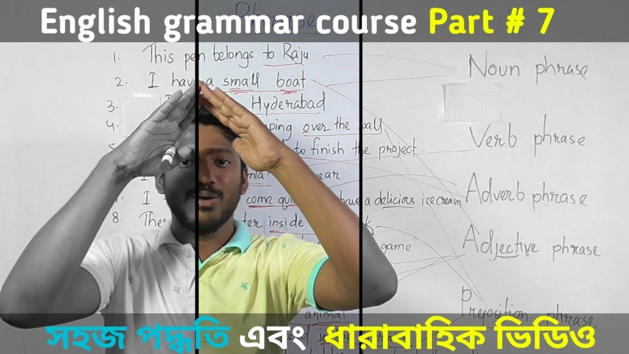 All types of Phrase  English Grammar part 7